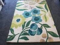 Next stylish wool flower rug