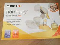 Medela Harmony Pump & Feed Set (as new)