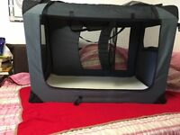 Dog Pet Puppy Fabric Portable Carrier Crate Kennel Bag Cage Fold Travel - 2XL