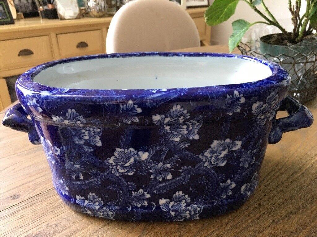 Victorian Blue & White China Foot Bath/Planter | in Hitchin ...