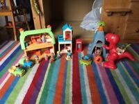 Happyland Bundle (Early Learning Centre) Village and Dinosaur set