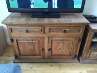 Cabinet/Sideboard from Mexico. Solid Oak with Distressed Look. Imported. Fantastic piece.