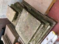 Pallet of Antique White Sandstone Slabs