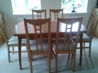 IKEA Extending Dining Room Table and 6 Chairs