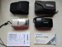 Two Olympus mju cameras