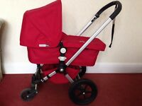 Bugaboo Frog red Pram + reclining pushchair + all accessories, excellent condition