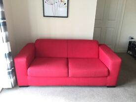 Red sofa like new