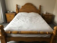 King Size Bed with matching bedside cabinets