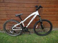 "Scorpion Aurc mountain bike 26"" wheels, 21 gears, 14"" aluminium frame, disc breaks front suspension"