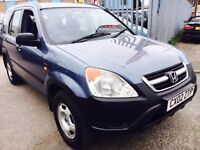 HONDA CRV SE 2.0 PETROL MANUAL 2002 PART LEATHER SEATS DRIVES LIKE NEW