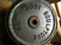 about ten castiron weights for bar 25 mm not olympic
