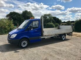 MERCEDES SPRINTER 311 CDI DIESEL 14FT DROPSIDE TRUCK WITH TAIL-LIFT 2008 08-REG DRIVES EXCELLENT