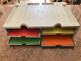 Organiser / Stand for Printer - Fax - Monitor - Four Variable Drawers for A4 Paper + Rear Cable Tidy