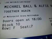 3x Michael ball and Alfie boe tickets