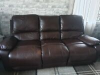 3 and 2 seater leather recliners
