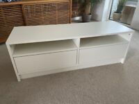 IKEA tv stand with 2 drawers.