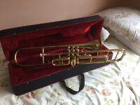 Valve Trombone and case