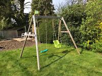 Swing Set TP Wooden-double-swing