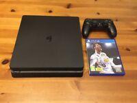 PlayStation 4 500GB Slim, 1 controller, & Fifa 18