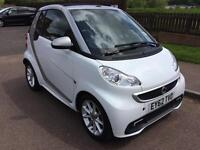 Smart car fortwo passion convertible in white