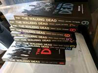 The Walking Dead Comics collection in Book versions 1-9