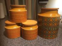 Hornsea Pottery Coffee, Tea, Sugar and Biscuit Containers
