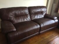 Three seater and two seater sofa's, electtic recliners.