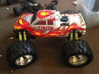 3 petrol remote control cars / rc cars and spares