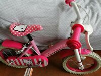 "Hello Kitty bike 14"" wheels in good condition"
