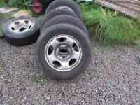 suzuki wheels and winter tyres x 4 235/60/16 all 6mm+ of tread