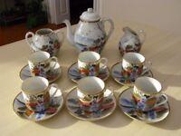 Vintage Japanese design coffee/tea set