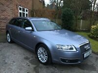 AUDI A6 Estate, Met. Silver/Blue, 2.0TDI (Auto), 2006 with FSH (mostly by Audi)