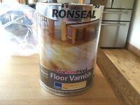 Ronseal Diamond hard floor varnish - satin clear 5 lit