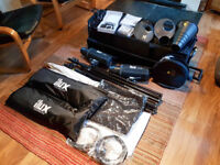 Ilux Studio Flash Kit 2 x 500ws Heads and accessories (Bowens S type fitment)