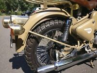 Royal Enfield 500cc Desert Storm. Bought new in India and still Indian registered.
