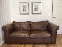 Laura Ashley Large Leather Sofa
