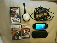 Sony PSP 2000 with 3 games
