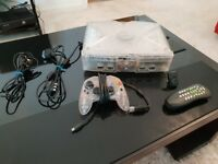 Original Xbox Crystal Transparent Console with 1 Controller and Wireless Remote