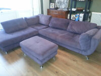 Corner Purple/Lilac funky Sofa Good condition SOLD AWAITING COLLECTION