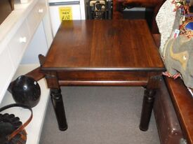 DARK ROSEWOOD INDIAN STYLE COFFEE TABLE