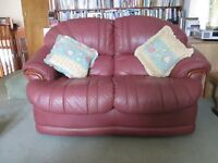 Top quality two seater leather sofa.