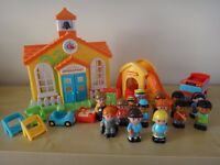 Happyland sunflower school with extras