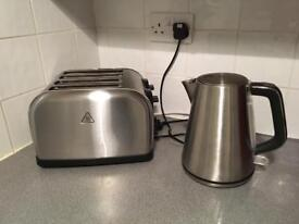 Toaster & Kettle - Silver
