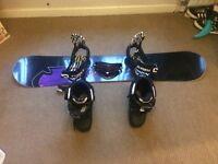 Snow board boots & googles