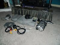 PS1 console and other accessories
