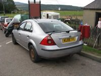 ford mondeo starts and drives but turbo gone .needs new one.325 ono.mot till 5/4/2019