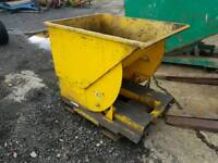 Forklift tipping skip farm industrial unit building site tractor