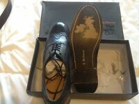 Mens Ben Sherman Black Brougue Shoes Brand New Size 10