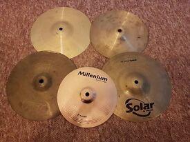 Splash cymbals x 5 - bundle