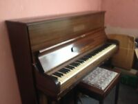 Rogers Eungblut Upright Piano and Piano Stool